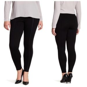 LYSSE Leggings with Faux Leather Inset